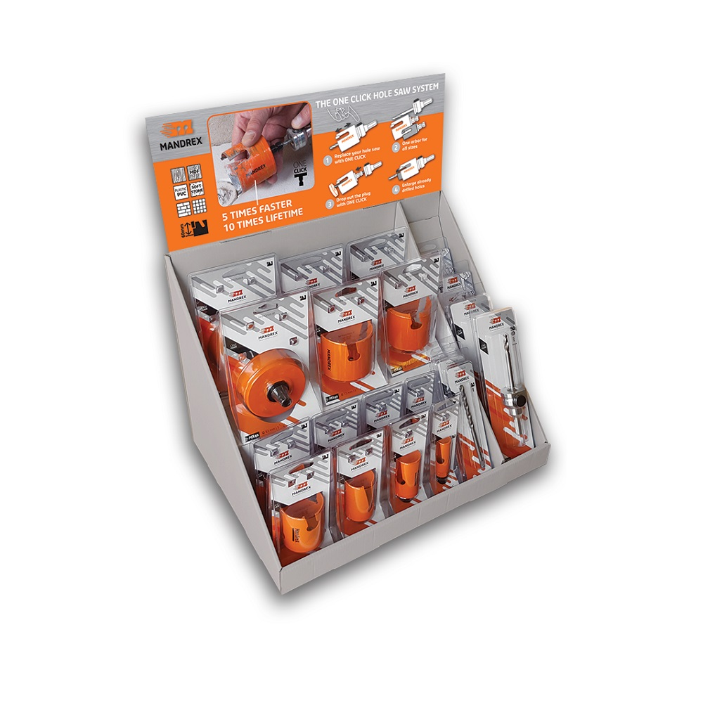 Mandrex Counter Display Kit (Multi Purpose Holesaw TCT